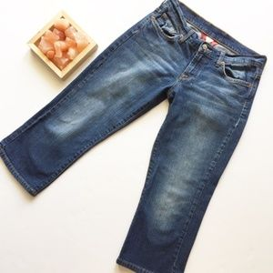 Lucky Classic Fit Crop Embroidered Pocket Jeans